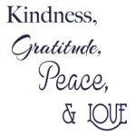 Kindness Gratitude Peace Love Logo