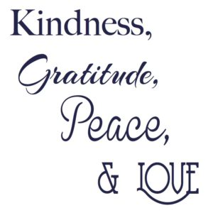 Kindness Gratitude Peace Love Logo